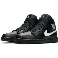 Nike Air Jordan 1 Mid Black Trainers UK 9.5 **Brand New In Box**