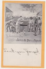 Black American Advertising Post 00004000 card - Sunshine in Dixie - Jones Pays Freight