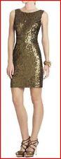 BCBG LUCIANNA DARK OLIVE SEQUIN SLEEVELESS DRESS Size XS NWT $368-RackR/101