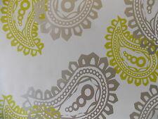 2.5m X 106cm WHITE SILVER GREEN PAISLEY STICKY BACK PLASTIC SELF ADHESIVE VINYL