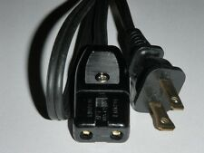 Power Cord for Rival Indoor Crock Smokeless Grill Model 5750 only (2pin) 36""