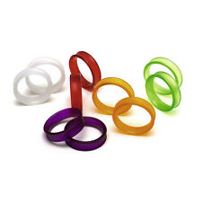 JAGUAR SCISSORS COLOURED FINGER RING INSERTS 5 X 2PC