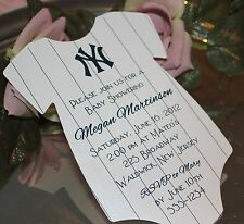 10 Baby Shower Invitations New York Yankees Theme Printed on Matte Card Stock