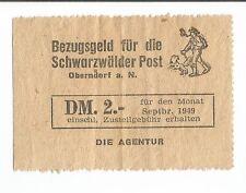 Zeitungs-Quittung, Schwarzwälder Post, Oberndorf a. Neckar, Zeitung-Presse
