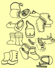 """18""""American/Gotz Doll Accessories/Ice Skates/Slippers/Boot/Shoe s/Purse+ Pattern"""