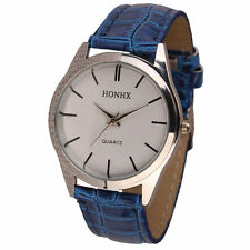 Ladies Fashion Silver HONHX Quartz White Face Blue Band Wrist Watch.(Aussie)