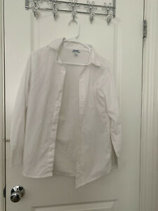 Old Navy White Long Sleeve Button Down Shirt XL boy 155/76
