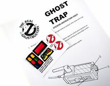 The Real Ghostbusters Replacement Stickers for Kenner 1989 Ghost Trap More