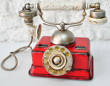 Rotary Dial Telephone Vintage Handset Phone Res Metal For Home Office Classic