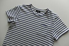 APC striped ken s/sleeve tshirt | Cream Blue | M | a.p.c