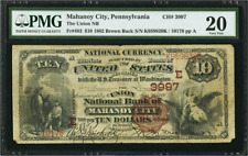 REDUCED! Mahanoy City, PA 1882 $10 Brown Back Fr. 483 CH# 3997 Union NB of MC