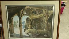 Sleigh Ride, Charles Peterson 1986 framed signed, limited edition