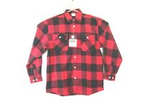 Rothco Extra Heavyweight Mens Large Flannel Shirt Plaid Red/Black Chest Pockets
