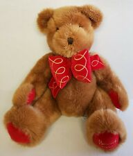 "Harrods Vintage 1997 Christmas Bear Plush 19"" Dated Foot Stuffed Animal Toy"