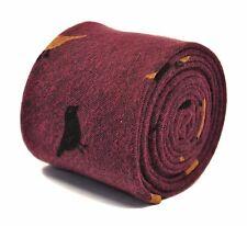 Frederick Thomas corbata rosa con diseño de pájaro de 100% algodón, FT2176 PVP £ 19.99