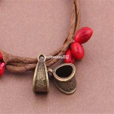 20pc Perles bronze antique charmes pendentif cintre parachute pl455 connecteur collier