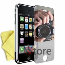 2 Films Mirror for IPHONE 3/3G/3GS Screen Protector LCD Film Mirror