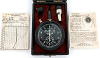 .WW2 US NAVY JAEGER PORTABLE TACHOMETER BS. MK. XV 43A-1 + ORIGINAL BOX + PAPERS