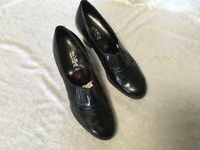Vintage 1930/40s Ww2 Dr Walkers Black Ladies Leather Pumps Shoes New Aus 5 Uk 3