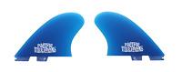 PACIFIC VIBRATIONS FCS2  SURFBOARD Channel Islands Keel TWIN FIN FCS 2 fins blue