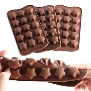 Silikonform 3D Sterne Pralinenform Schokoladenform Silikon Backform Eiswürfel