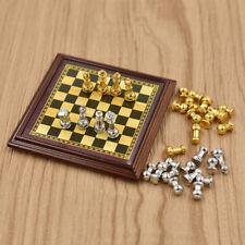 1:12 Dollhouse Accessories Mini Alloy Chess Set Board Simulation Furniture Model