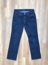 Ladies Womens Levis SLIGHT CURVE STRAIGHT Stretch Blue Jeans W28 L30 UK 8 navy