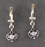 9901038 925er Silber Art deco Ohrringe geometrisch Swarovski-Steine L3,5cm