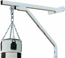 RDX Heavy Duty Punch Bag White Wall Bracket Steel Mount Hanging Stand Boxing CA