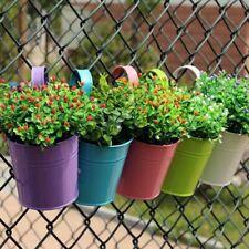 Hanging Flower Pot Hooks Wall Pots Pail Iron Flower Holder Balcony Garden Plant