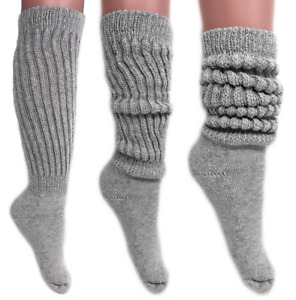Extra Heavy Cotton Workout Exercise Super Heavy Long Tall Slouch Socks 9-11