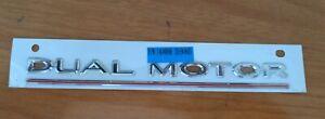 Tesla Model S 3 X Y Dual Motor Performance Badge Emblem OEM Genuine Brand New