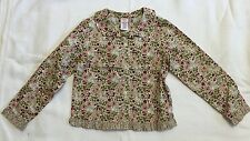 Gymboree Girls Floral Button Front Top With Ruffled Trim Sz 6 EUC