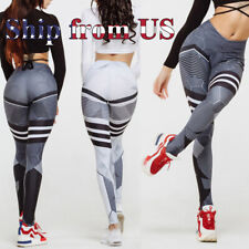 Women's Push Up Yoga Pants Running Gym Leggings Sports Fitness Workout Trousers