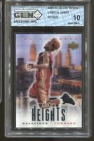2003-04 Lebron James City Heights Gem Mint 10 RC Rookie LA Lakers