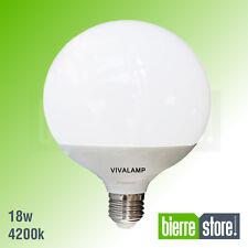 LAMPADINA LED E27 GLOBO 18W G120 1800 LUMEN 5 PEZZI LUCE NATURALE 4200K