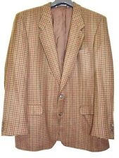Men's Jacket Blazer 100% Wool Neill Of Langholm Scotland Brown Tweed W Germany