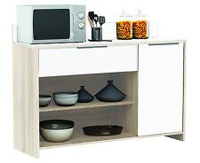 AKAZIE-weiss Küchenschrank #228 Schrank Küchenregal Küchenmöbel Singleküche Holz