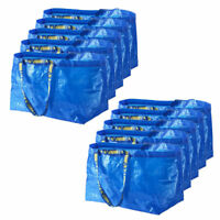 10 x IKEA FRAKTA Large Blue 71L Multi-Purpose Reusable Plastic Carrier Bags