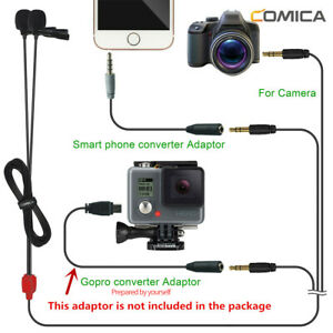 COMICA CVM-D02 Dual-Head Lavalier Clip Microphone for Gopro Iphone Sony Camera