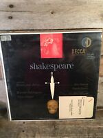 SHAKESPEARE Decca Romeo Juliet Hamlet LP Record Album Vinyl