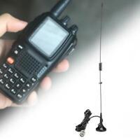 BNC UHF VHF Dual Band Antenna Aerial for YAESU Kenwood Motorola Baofeng Radio SS