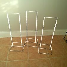 3- Double Round Strip Potato Chip, Candy Clip Counter Display Racks in White
