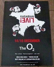 KASABIAN VELOCIRAPTOR 2011 UK TOUR LONDON A4 POSTER BRAND NEW