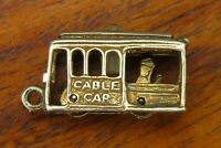 Vintage sterling silver STANHOPE SAN FRANCISCO TROLLEY CABLE CAR MOVABLE charm