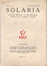 SOLARIA. ANNO QUARTO - N. 7-8 - LUGLIO-AGOSTO 1929, LETTERATURA ITALIANA RIVISTE