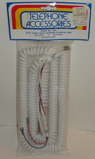 TELEPHONE ACCESSORIES NO. T505 25ft Coiled White Extension Cord Heavy Duty