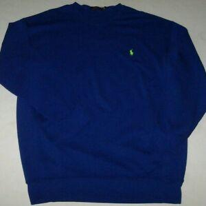 NWT Polo Ralph Lauren RUGBY ROYAL BLUE Sweatshirt Men's XLT Tall LIME GREEN PONY