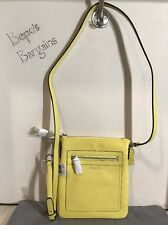 NWT COACH LEGACY LEMON YELLOW LEATHER SMALL SWINGPACK PURSE CROSSBODY NEW 47989