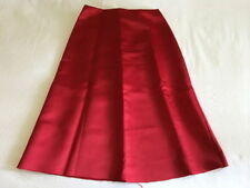 Satin A-Line Solid Skirts for Women
